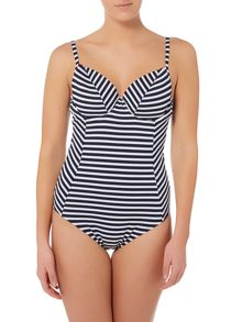 Dickins & Jones Stripe contrast frill uw swimsuit