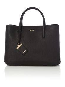 DKNY Saffiano black large city tote bag