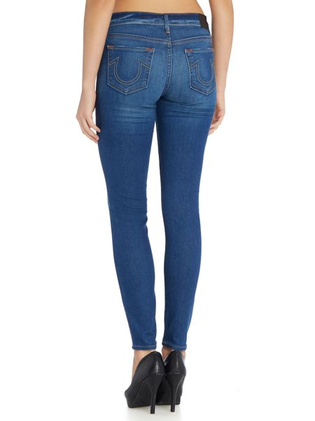 True Religion Halle midrise super skinny jean in crystal spring