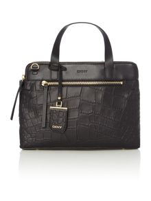 DKNY Croc black medium tote bag