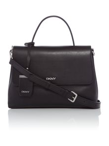 DKNY Pebble black medium flap over shoulder bag