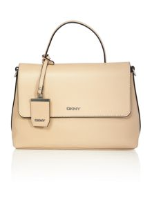 DKNY Pebble netural medium flap over shoulder bag