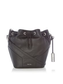 Kate black bucket bag