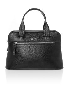 DKNY Tribeca black double zip satchel bag