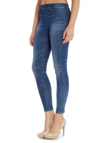 True Religion The runway legging jean in capri blue