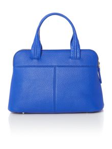 DKNY Tribeca blue double zip satchel bag