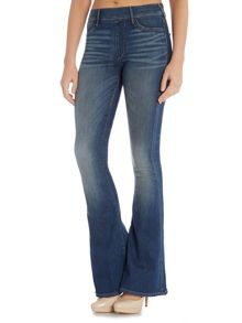 True Religion Runway flare legging jean in pacific blue