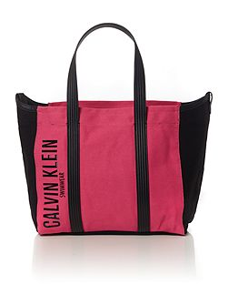 Melaine pink and black tote bag