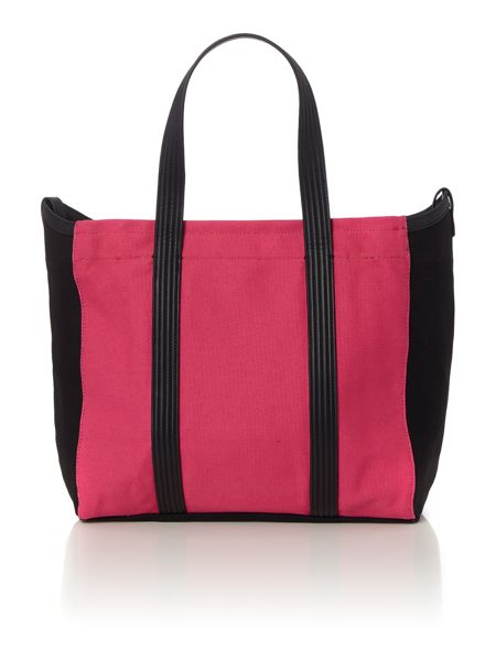 Calvin Klein Melaine pink and black tote bag