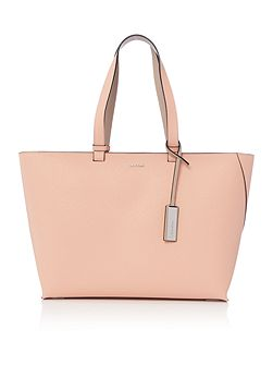 Sofie light pink and neutral large tote bag