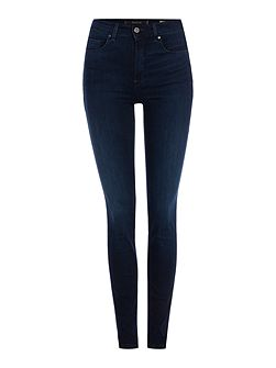 Carrie high waist skinny jean in denim dark