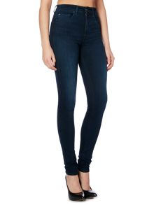 Salsa Carrie high waist skinny jean in denim dark wash