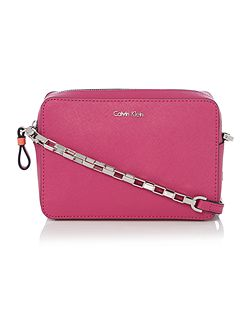 Calvin Klein Sofie pink small crossbody bag
