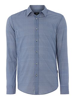 Ronni Slim Fit Spotted Short Sleeve Shirt
