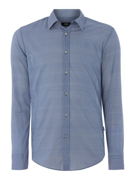 Hugo Boss Ronni Slim Fit Spotted Short Sleeve Shirt