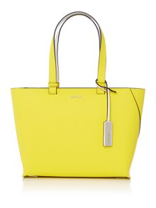 Sofie yellow medium tote bag