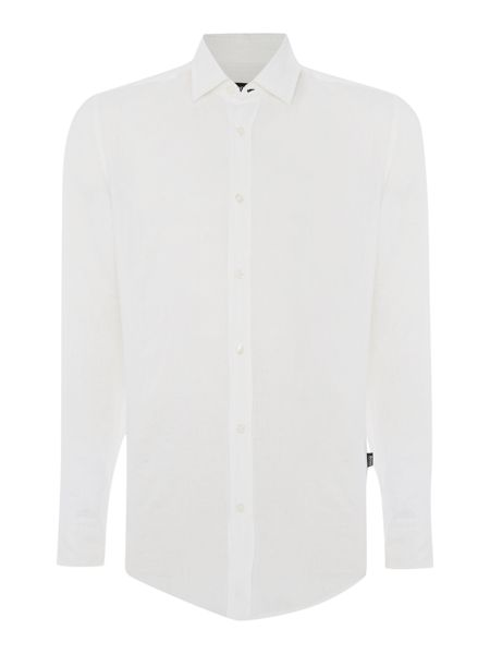 Hugo Boss Lukas Regular Fit Linen Shirt