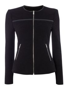 Episode Textured jacket with cutout shoulder detail