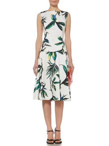 Linea Palm print full skirt