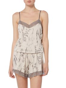 Linea Botanical Illustration Jersey Playsuit