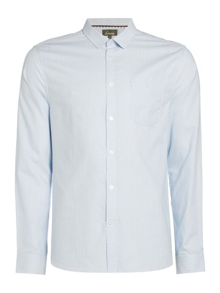 Linea Raymond Ticking Stripe Double Oxford Shirt