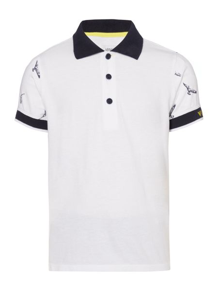 Armani Junior Boys Logo Polo and Shorts Set
