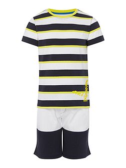 Boys Stripe T-shirt & Short Set