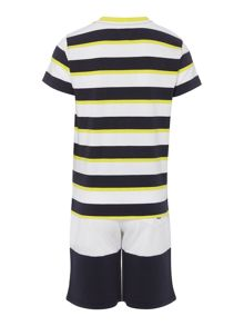 Armani Junior Boys Stripe T-shirt & Short Set