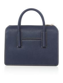 DKNY Saffiano navy satchel bag