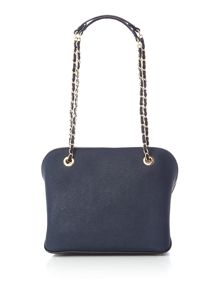 DKNY Saffiano navy medium dome bag