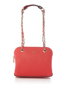 Saffiano red small dome bag