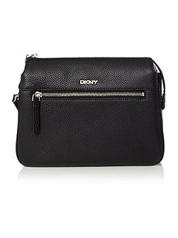 Tribeca black triple zip cross body bag