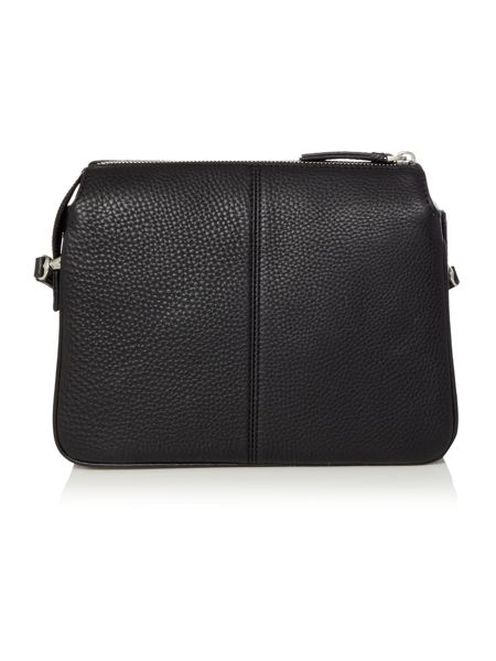 DKNY Tribeca black triple zip cross body bag