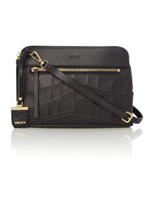 DKNY Croc black small cross body bag