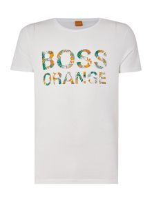 Hugo Boss Tomsin 1 regular fit floral logo printed t shirt