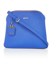 DKNY Saffiano blue cross body bag