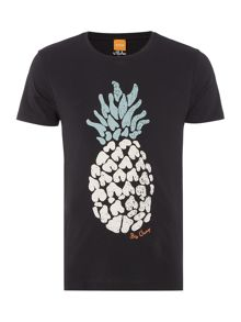 Tomsin 3 regular fit pineapple print t shirt