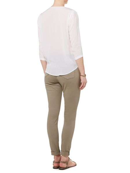 Gray & Willow Thea tie front top