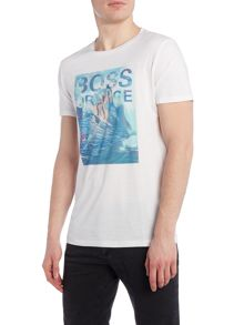 Hugo Boss Towney 1 regular fit surfing print t shirt
