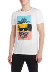 Hugo Boss Towney 2 regular fit pineapple head print t shirt