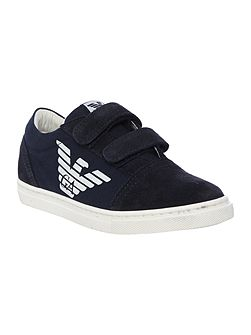 Boys Eagle Logo Trainers with Velcro Straps