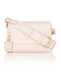 Heavy nappa pink small flap over cross body