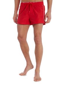 Swim short with elastic logo waistband