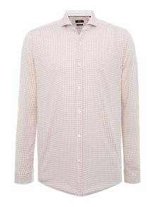 Hugo Boss Lennie Regular Fit Geo Box Print Shirt