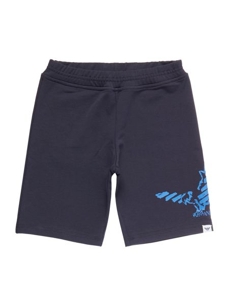 Armani Junior Boys Eagle Logo Jersey Shorts