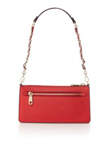 DKNY Saffiano red small cross body bag