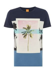 Hugo Boss Towney 4 regular fit palm tree print t shirt