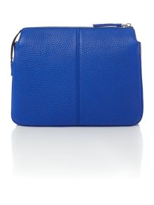DKNY Tribeca blue triple zip cross body bag
