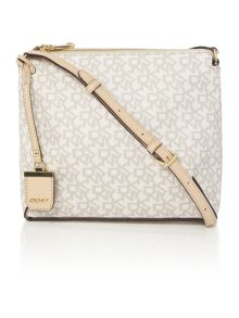 DKNY Coated logo neutral cross body bag