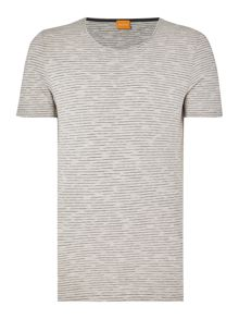 Hugo Boss Typicco regular fit space dye stripe t shirt